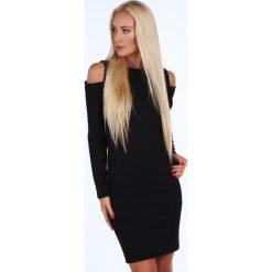 Sukienki: Sukienka w minimalistycznym stylu czarna 1836