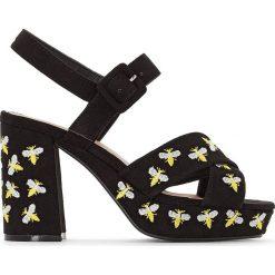 Rzymianki damskie: Sandały z ozdobnymi pszczółkami