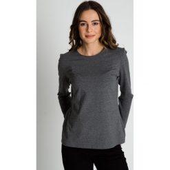 Odzież sportowa damska: Szara luźna bluzka z długim rękawem BIALCON