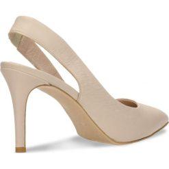 Czółenka SAVONA. Brązowe buty ślubne damskie Gino Rossi, ze skóry, na wysokim obcasie, na szpilce. Za 299,90 zł.