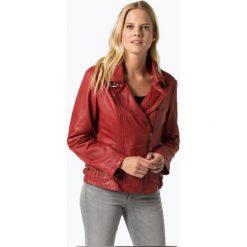 Cabrini - Damska kurtka skórzana, czerwony. Czerwone kurtki damskie ramoneski Cabrini, ze skóry. Za 899,95 zł.