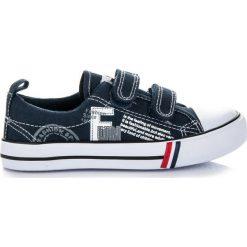 Buty dziecięce: Granatowe trampki na rzep LUCIENNE