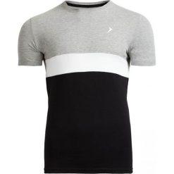 T-shirt męski TSM616 - średni szary melanż - Outhorn. Szare t-shirty męskie Outhorn, na lato, m, melanż, z bawełny. W wyprzedaży za 29,99 zł.