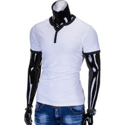 T-SHIRT MĘSKI BEZ NADRUKU S651 - BIAŁY. Białe t-shirty męskie z nadrukiem marki Ombre Clothing, m. Za 29,00 zł.