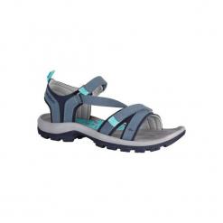 Sandały turystyczne Arpenaz 120 damskie. Brązowe sandały damskie marki QUECHUA, z gumy. Za 129,99 zł.