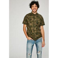 Dissident - Koszula. Szare koszule męskie na spinki Dissident, l, z bawełny, z klasycznym kołnierzykiem, z krótkim rękawem. W wyprzedaży za 59,90 zł.