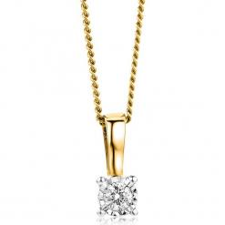 Złoty naszyjnik z zawieszką z diamentem - dł. 45 cm. Żółte naszyjniki damskie REVONI, złote. W wyprzedaży za 646,95 zł.