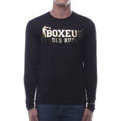 BOXEUR Koszulka długi rękaw czarno-złota r.XS (BXE-2809F). Czarne koszulki sportowe męskie BOXEUR, m. Za 91,87 zł.