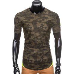 T-shirty męskie: T-SHIRT MĘSKI Z NADRUKIEM MORO S864 – ZIELONY