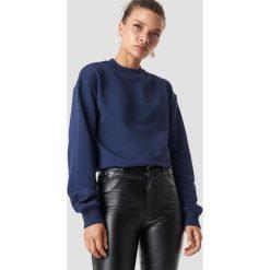 NA-KD Basic Bluza basic - Navy. Różowe bluzy damskie marki NA-KD Basic, prążkowane. Za 100,95 zł.