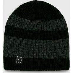 Quiksilver - Czapka. Czarne czapki zimowe męskie Quiksilver, z dzianiny. W wyprzedaży za 79,90 zł.
