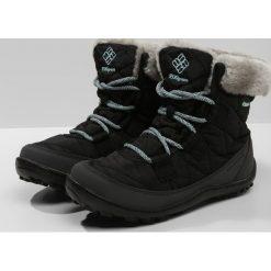 Columbia YOUTH MINX SHORTY OMNIHEAT WATERPROOF Śniegowce black/spray. Szare buty zimowe damskie marki Columbia, ze skóry ekologicznej. W wyprzedaży za 255,20 zł.
