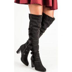ELEGANCKIE KOZAKI MUSZKIETERKI. Czarne buty zimowe damskie marki Merg. Za 119,00 zł.