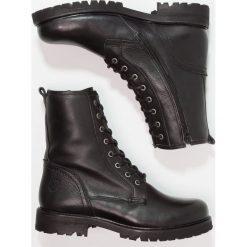 Ca'Shott Botki sznurowane canyon black. Czarne botki damskie skórzane marki Ca'Shott, na sznurówki. W wyprzedaży za 395,45 zł.