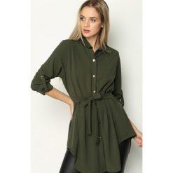 Ciemnozielona Koszula Affinity. Zielone koszule damskie Born2be, m, koszulowe. Za 44,99 zł.