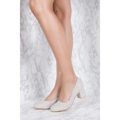 Czółenka: NA-KD Shoes Czółenka z wycinanymi brzegami – Grey