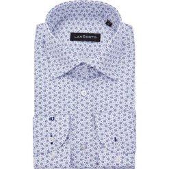 Koszula Biała w Kwiatki Flow. Białe koszule męskie jeansowe marki LANCERTO, m, z haftami. Za 299,90 zł.