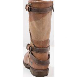 Mustang Śniegowce kastanie. Brązowe buty zimowe damskie marki Mustang, z materiału. W wyprzedaży za 149,50 zł.