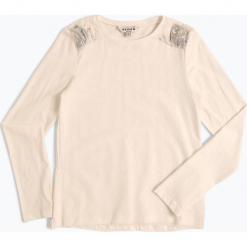 Review - Dziewczęca koszulka z długim rękawem, czarny. Niebieskie bluzki dziewczęce z długim rękawem marki bonprix, z wełny, długie. Za 79,95 zł.