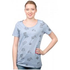 S.Oliver T-Shirt Damski 34 Niebieski. Niebieskie t-shirty damskie S.Oliver, s. W wyprzedaży za 48,00 zł.