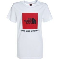 The North Face BOX TEE COSMIC Tshirt z nadrukiem white/red. Różowe t-shirty chłopięce marki The North Face, m, z nadrukiem, z bawełny. Za 129,00 zł.