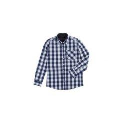 Koszula męska z kieszonką, rozpinana, Z KOŁNIERZEM casual. Szare koszule męskie marki TXM, m. Za 24,99 zł.