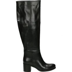 Kozaki - 314M-B-101NJ8. Czarne buty zimowe damskie Venezia, ze skóry. Za 599,00 zł.