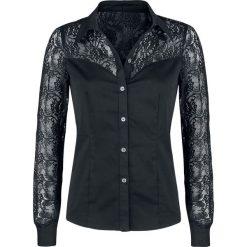 Gothicana by EMP Season Of The Witch Bluzka damska czarny. Czarne bluzki koronkowe Gothicana by EMP, m, z koszulowym kołnierzykiem, z długim rękawem. Za 129,90 zł.