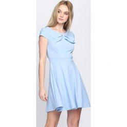 Jasnoniebieska Sukienka Treat Me. Niebieskie sukienki letnie marki Born2be, s, mini. Za 89,99 zł.