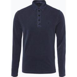 Marc O'Polo - Męska koszulka polo, niebieski. Niebieskie koszulki polo Marc O'Polo, l, z dżerseju, z długim rękawem. Za 199,95 zł.