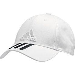 Czapki męskie: Adidas  Czapka z daszkiem męska 6P 3S Cap Cotton Biała r. OSFL