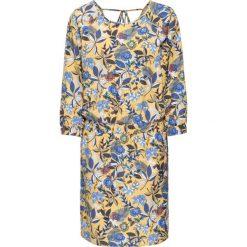 Sukienki: Sukienka bonprix żółty w kolorowe kwiaty