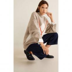 Mango - Sweter Steeve. Szare swetry klasyczne damskie Mango, l, z dzianiny, z okrągłym kołnierzem. Za 159,90 zł.