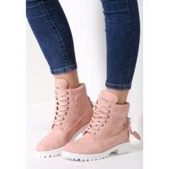 Buty zimowe damskie: Różowe Traperki Be Young
