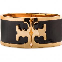 Bransoletka TORY BURCH - Enamel Raised Logo Wide Cuff 37775 Black/Tory Gold 010. Czarne bransoletki męskie marki Tory Burch, metalowe. Za 769,00 zł.