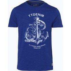 T-shirty męskie z nadrukiem: Tom Tailor Denim – T-shirt męski, niebieski