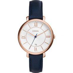 Zegarek FOSSIL - Jacqueline ES3843 Blue/Rose Gold. Różowe zegarki damskie marki Fossil, szklane. Za 569,00 zł.
