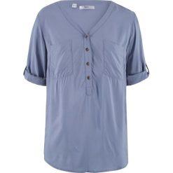 Tunika, rękawy 3/4 bonprix matowy niebieski. Niebieskie tuniki damskie bonprix. Za 44,99 zł.