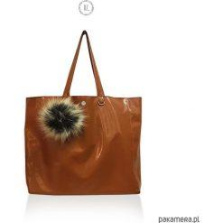 Torba CARAMEL FOX shopper XXL. Brązowe shopper bag damskie Pakamera, duże. Za 179,00 zł.