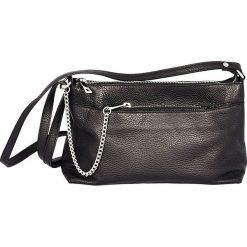 Torebki klasyczne damskie: Skórzana torebka w kolorze czarnym – 27 x 18 x 7 cm