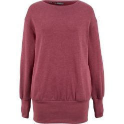 """Bluza """"oversize"""" bonprix jasnoróżowy melanż. Czerwone bluzy damskie bonprix, melanż. Za 74,99 zł."""
