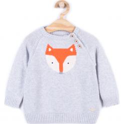 Sweter. Szare swetry chłopięce FOX, z bawełny. Za 49,90 zł.