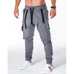 Spodnie męskie: SPODNIE MĘSKIE JOGGERY P716 – SZARE