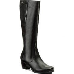 Kozaki CAPRICE - 9-25519-29 Black Nappa 022. Czarne buty zimowe damskie Caprice, z materiału, na obcasie. W wyprzedaży za 359,00 zł.