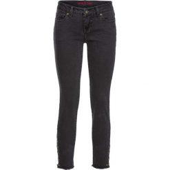 Dżinsy SKINNY z ćwiekami w dolnej części bonprix szary denim. Niebieskie jeansy damskie marki House, z jeansu. Za 79,99 zł.