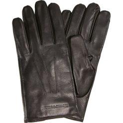 Emporio Armani LEATHER MAN GLOVES Rękawiczki pięciopalcowe brown. Brązowe rękawiczki męskie Emporio Armani, z materiału. Za 589,00 zł.