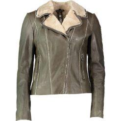 """Bomberki damskie: Skórzana kurtka """"Yukon Gold"""" w kolorze szarobrązowym"""