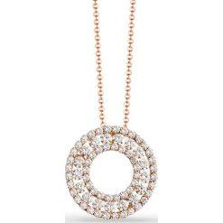 Naszyjniki damskie: Naszyjnik – złoto różowe 585, Brylant 0,86ct