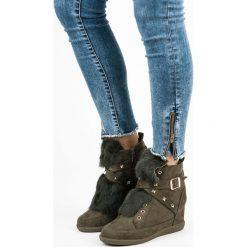Botki damskie lity: Sneakersy z futerkiem LILLIAN
