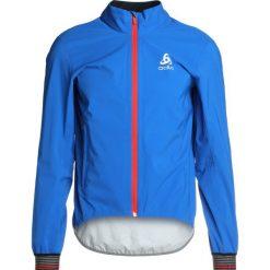 ODLO JACKET TYFOON               Kurtka hardshell energy blue. Niebieskie kurtki trekkingowe męskie Odlo, m, z hardshellu. W wyprzedaży za 503,20 zł.